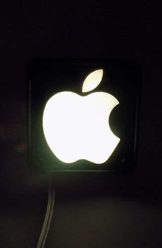 Apple Logo LED Nightlight/Lamp 3D Print 32220