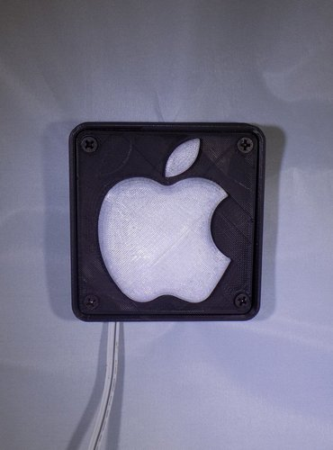 Apple Logo LED Nightlight/Lamp 3D Print 32221