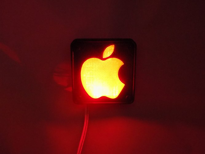 Apple Logo LED Nightlight/Lamp 3D Print 32222