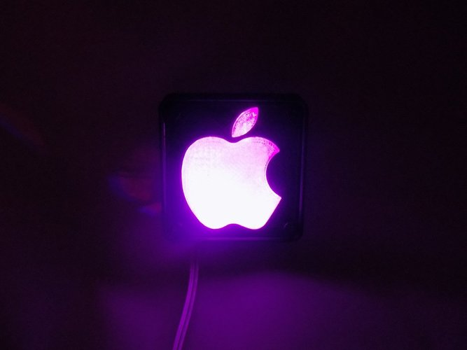 Apple Logo LED Nightlight/Lamp 3D Print 32223