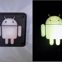 Small Android Robot LED Nightlight/Lamp 3D Printing 32228