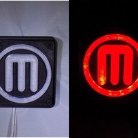Small Makerbot M Logo LED Nightlight/Lamp 3D Printing 32237