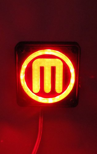 Makerbot M Logo LED Nightlight/Lamp 3D Print 32239