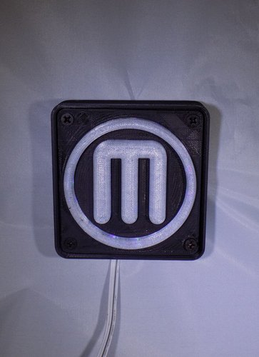 Makerbot M Logo LED Nightlight/Lamp 3D Print 32240