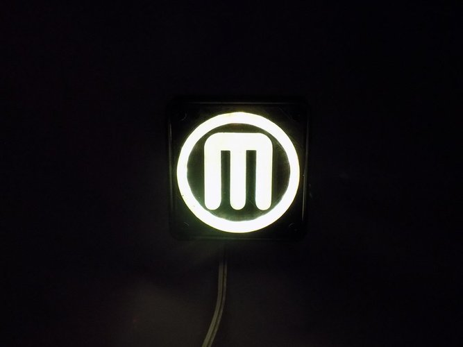 Makerbot M Logo LED Nightlight/Lamp 3D Print 32241