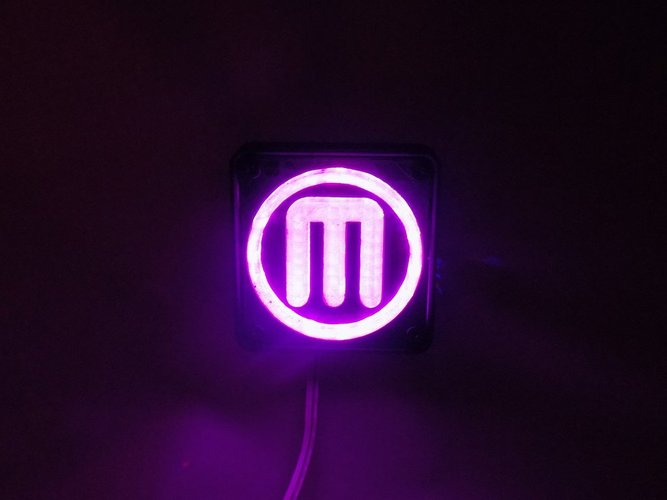 Makerbot M Logo LED Nightlight/Lamp 3D Print 32243