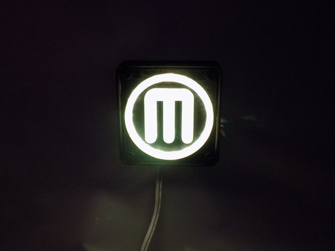 Makerbot M Logo LED Nightlight/Lamp 3D Print 32244