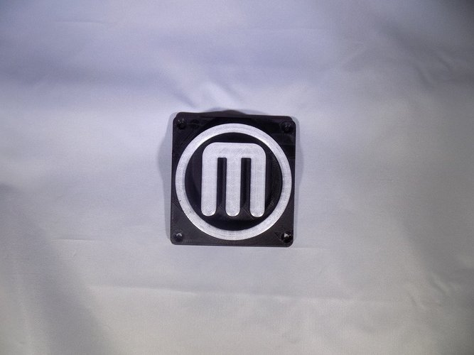 Makerbot M Logo LED Nightlight/Lamp 3D Print 32245
