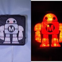 Small Maker Faire LED Robot sign/nightlight 3D Printing 32255