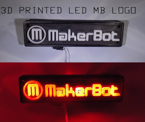 LED Makerbot Logo Nightlight 3D Print 32267