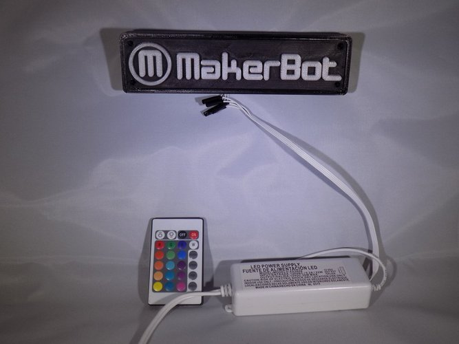 LED Makerbot Logo Nightlight 3D Print 32268