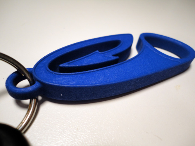 Dirt Force Motorcycles Key Chain 3D Print 3227