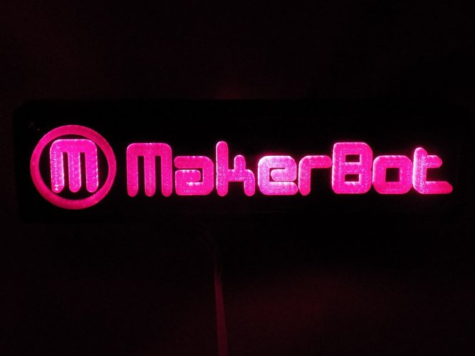 LED Makerbot Logo Nightlight 3D Print 32272