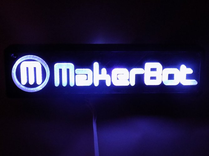LED Makerbot Logo Nightlight 3D Print 32273