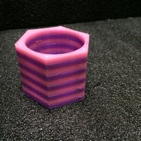 Small 40 mm Hex LED Candle Holder - Dual Extrusion 3D Printing 32331