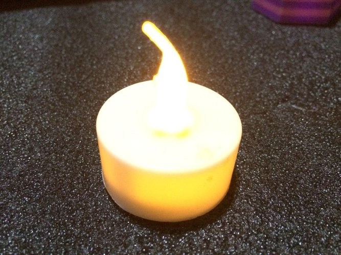 40 mm Hex LED Candle Holder - Dual Extrusion 3D Print 32335