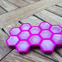 Small Beehive Ice Tray 3D Printing 32390
