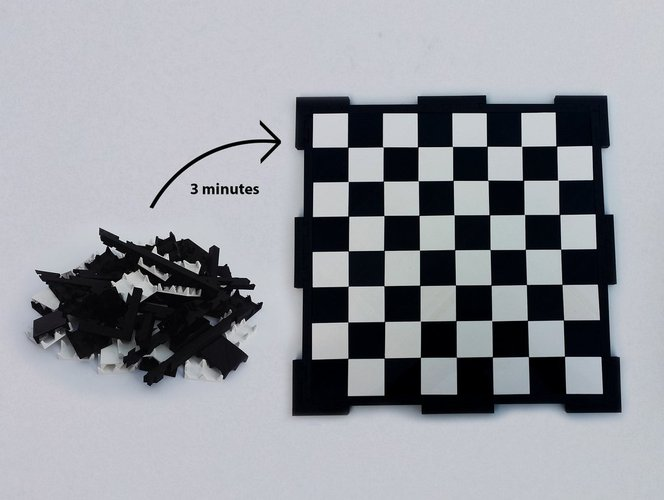 Glossy chessboard, easy to store. 3D Print 32448