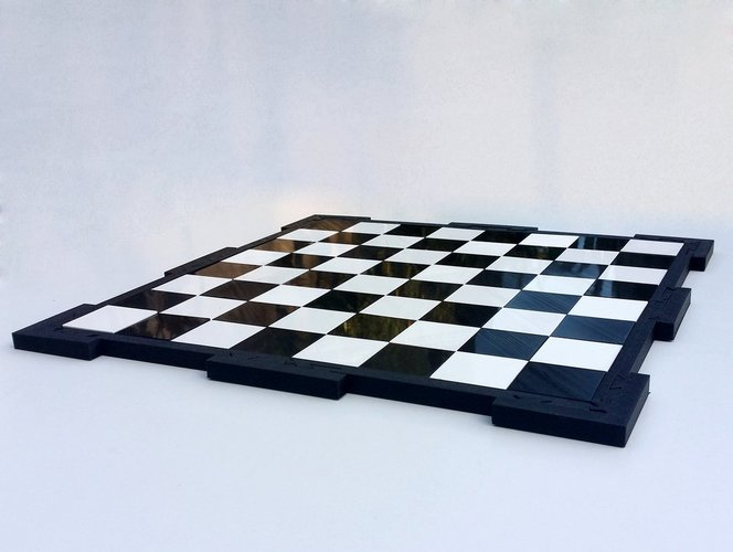 Glossy chessboard, easy to store. 3D Print 32451