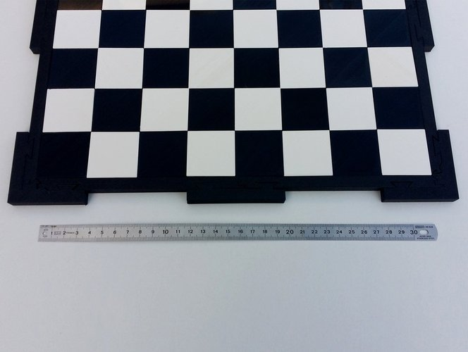 Glossy chessboard, easy to store. 3D Print 32452