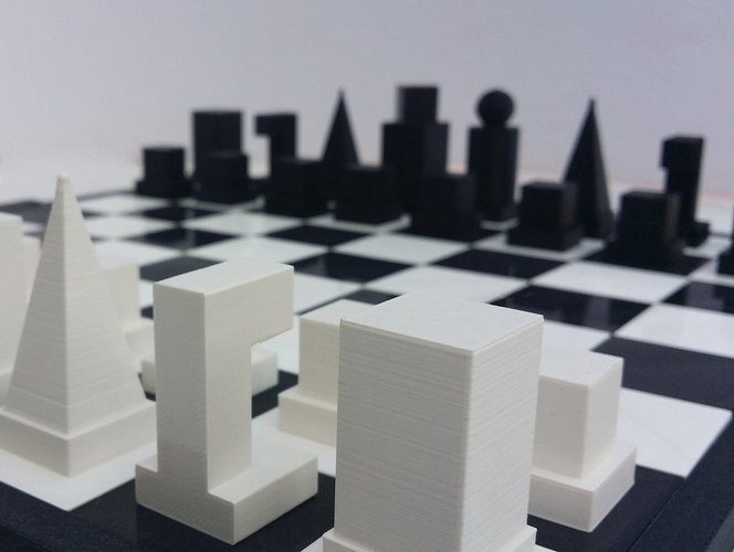 Glossy chessboard, easy to store. 3D Print 32454