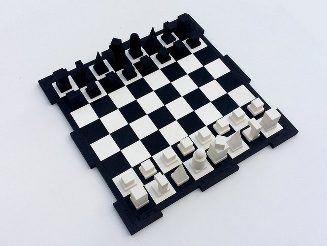 Glossy chessboard, easy to store. 3D Print 32455