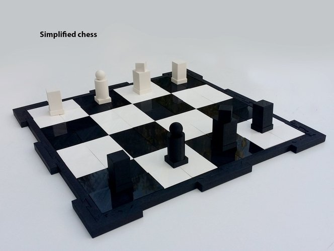 Glossy chessboard, easy to store. 3D Print 32456