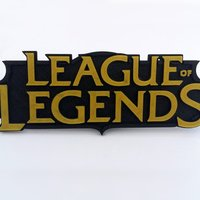 Small League of Legend - LOL logo remixed 3D Printing 32457