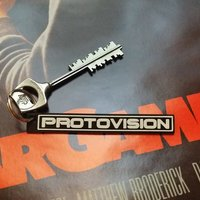 Small PROTOVISION logo (keychain and plate) 3D Printing 32462