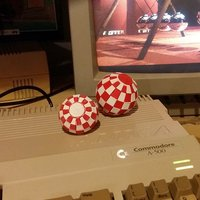 "Small ""Amiga"" Ball - Printable bicolor ball with a single-head printer 3D Printing 32464"