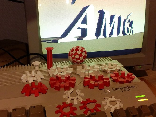 """Amiga"" Ball - Printable bicolor ball with a single-head printer 3D Print 32466"