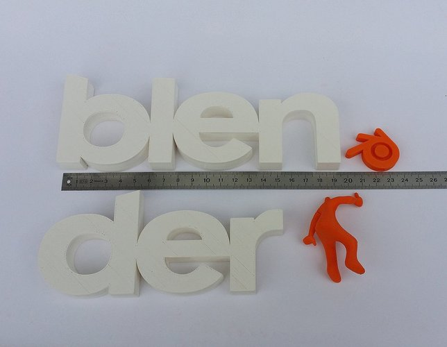 Big letters logo Blender + Blender guy 3D Print 32470