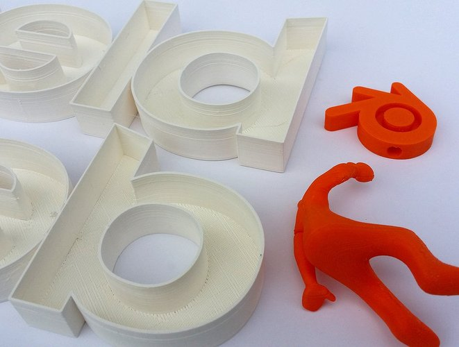 Big letters logo Blender + Blender guy 3D Print 32471