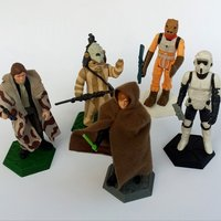 Small Support for Star Wars Kenner loose figures  3D Printing 32473