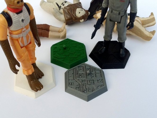 Support for Star Wars Kenner loose figures  3D Print 32475