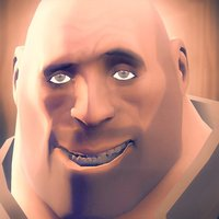 Small Team Fortress 2 Heavy Head 3D Printing 32497