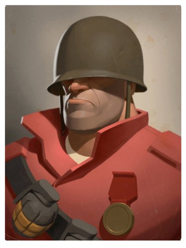 Team Fortress 2 Soldier Head 3D Print 32500