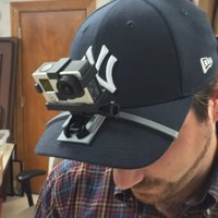 Small GoPro Hat Brim Mount 3D Printing 32510