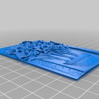Small Flower Plaque 3D Printing 32517