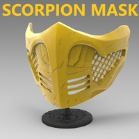 Small Scorpion Mask (Covid19) 3D Printing 325614