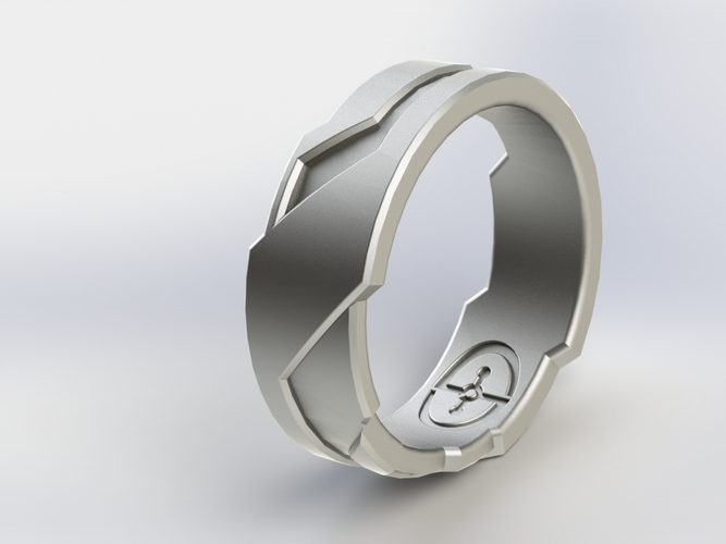 Halo/Tron Inspired Ring 3D Print 3257