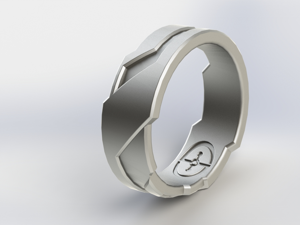 rings business to helps bands printing wedding holden how band faceted it ring shows customers right take shapeways in printed