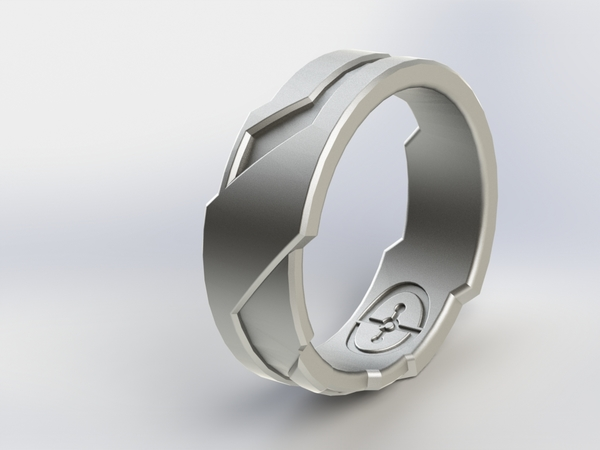 Medium Halo/Tron Inspired Ring 3D Printing 3257