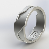 Small Halo/Tron Inspired Ring 3D Printing 3257
