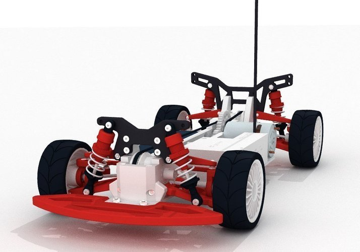 OpenRC 1:10 4WD Touring Concept RC Car 3D Print 32617