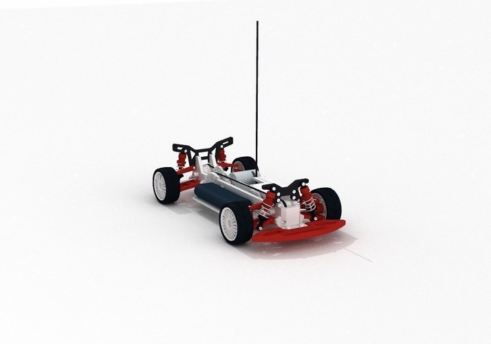 OpenRC 1:10 4WD Touring Concept RC Car 3D Print 32620