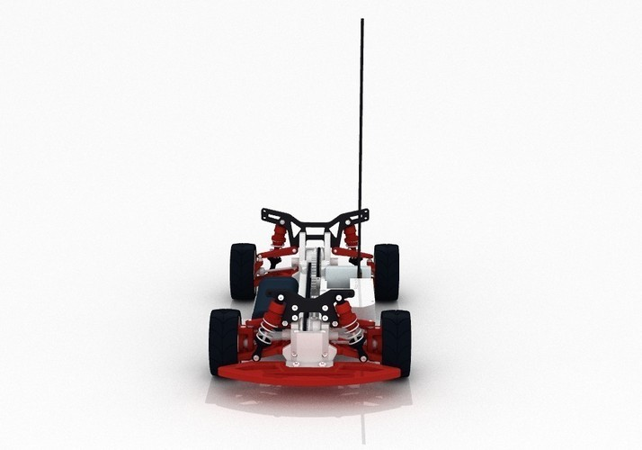 OpenRC 1:10 4WD Touring Concept RC Car 3D Print 32621