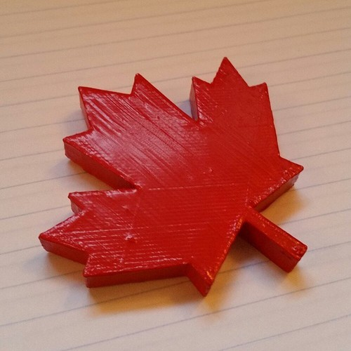 Maple Leaf Magnet 3D Print 32681