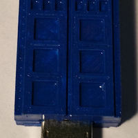 Small Tardis - USB Flashdrive  Cover 3D Printing 32684