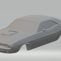 Small dodge  challenger RT 70 3D Printing 328517